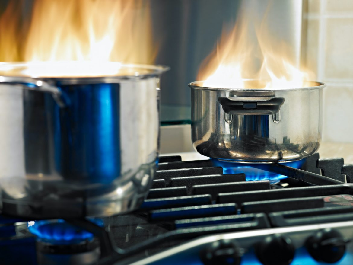 Home Accidents Pans On Fire On Stoves