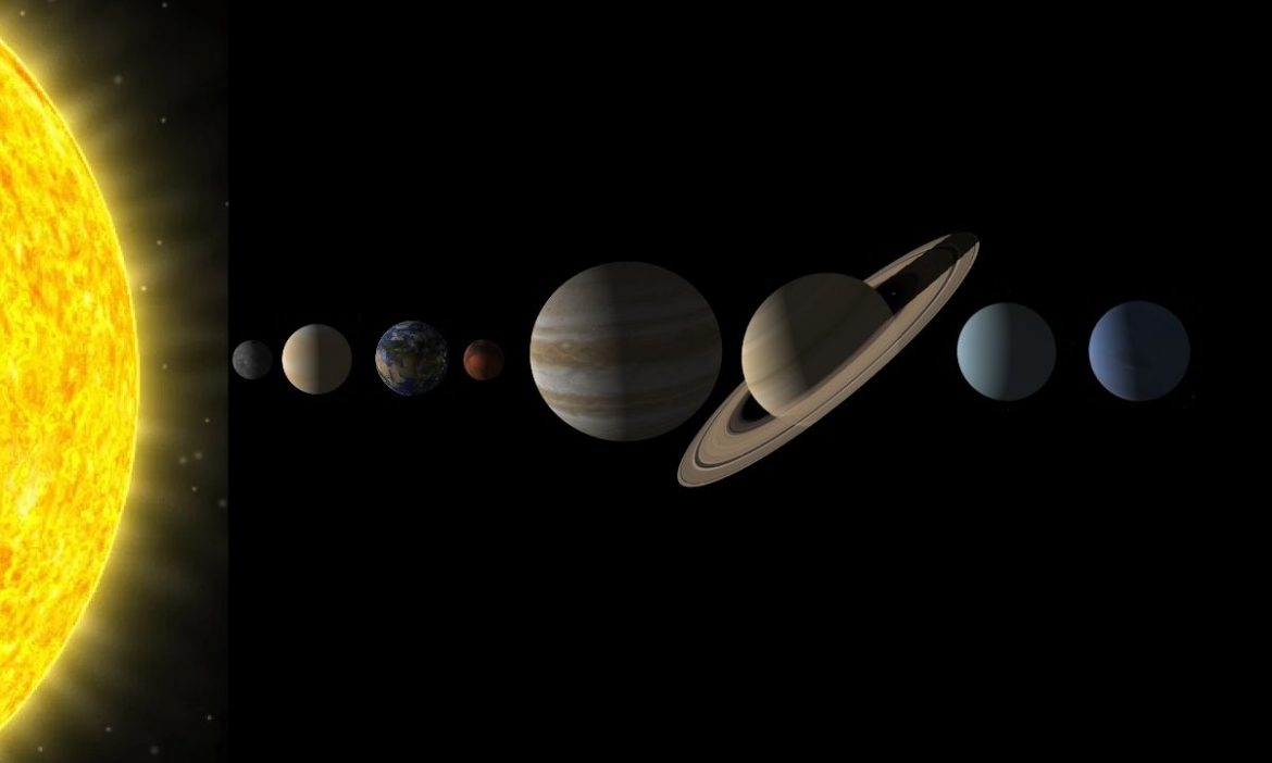 The planetary arrangement of the Solar System
