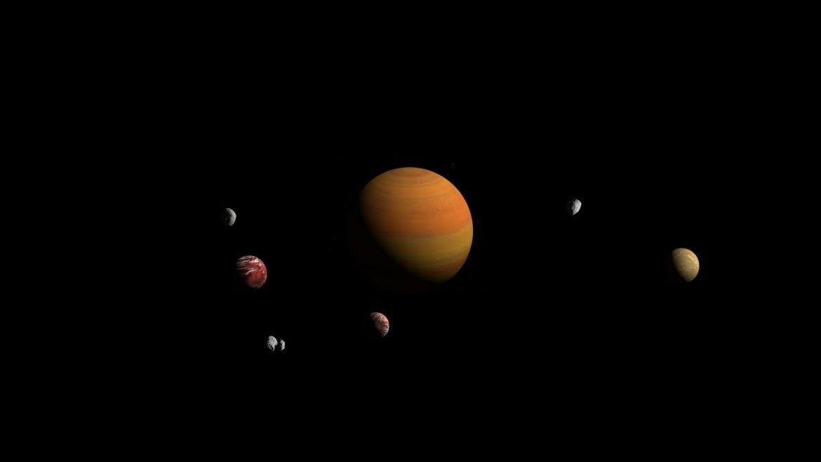 Planet with moons