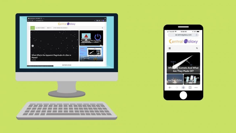 website on desktop and mobile device
